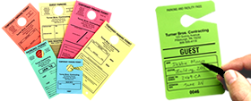 Temporary and Paper Parking Hang Tags