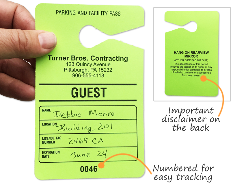 guest parking passes