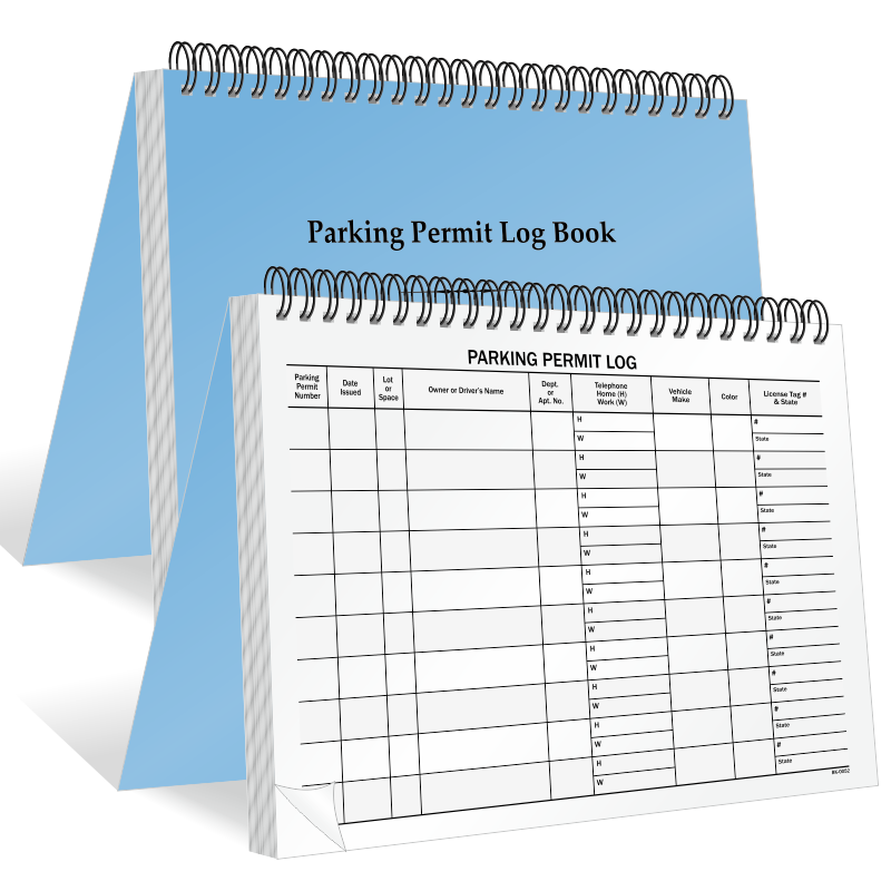 Stock parking permit hang tag blue sku pp 2001 blank for Hanging parking permit template free