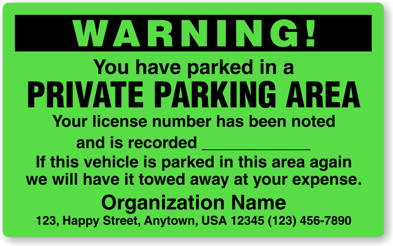 Handicap Parking Ticket On Private Property