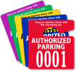 Authorized Parking Permit Mirror Hang Tag, Small Size