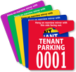 Tenant Parking Permit Mirror Hang Tag, Small Size