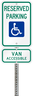 Maryland Handicapped parking sign with details of the penalty for offenders