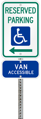 South Carolina handicapped parking sign with details of the penalty for offenders