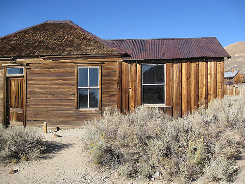 Abandoned house in Bodie, CA, ghost town