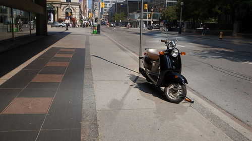 scooter parked in toronto