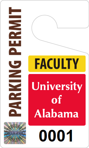 Faculty parking permit