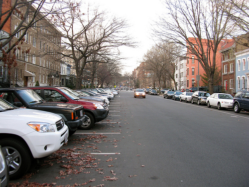 back-in perpendicular parking in DC