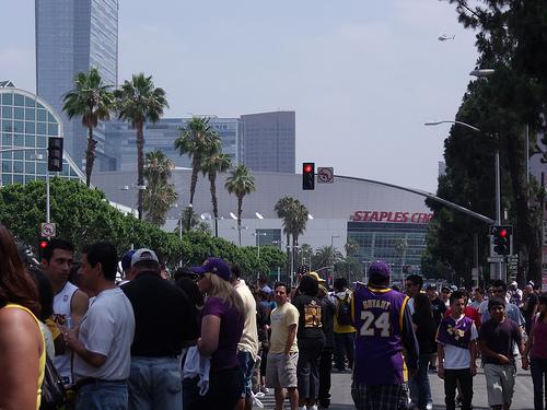 STAPLES center crowds