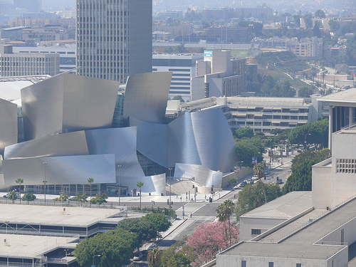 Walt Disney Concert Hall from the air