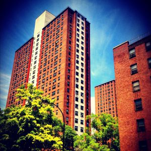 The Fulton Houses, a housing project in Chelsea. via JasonParis.