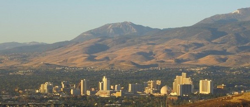 A view of Reno from a distance