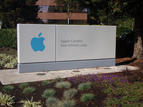 Sign at Apple HQ