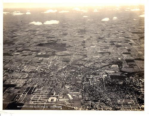 Ann Arbor, seen from the air, 1928.