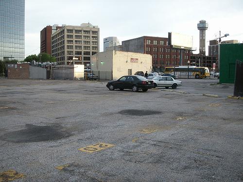 Empty parking Dallas