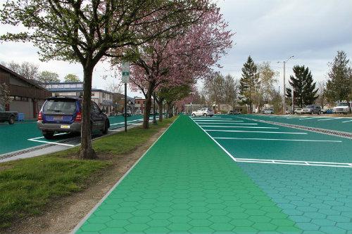 solar paneled street