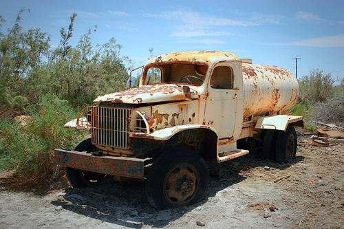 rusty parked truck