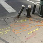 Street stencils honor pedestrian deaths