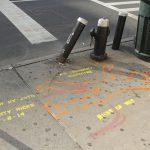 Street stencils honor pedestrian deaths