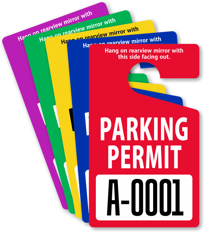 In Stock Parking Permits Free Shipping From