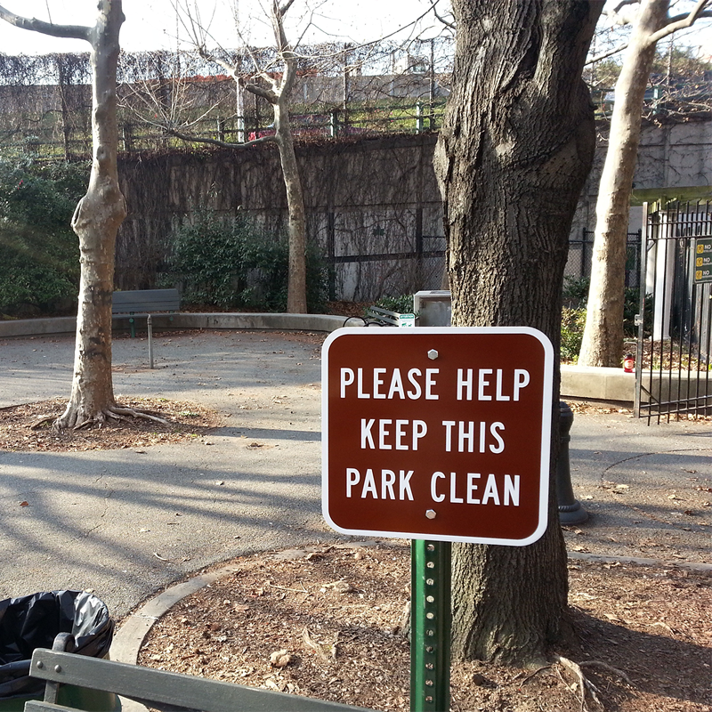 Fitness Center Rules Aluminum Sign Square Shape Free: Please Help Keep This Park Clean Sign